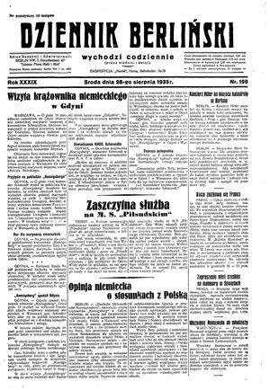 Dziennik Berliński vom 28.08.1935