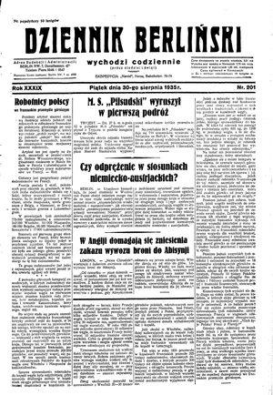 Dziennik Berliński vom 30.08.1935