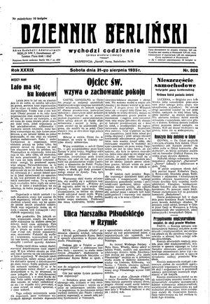 Dziennik Berliński vom 31.08.1935