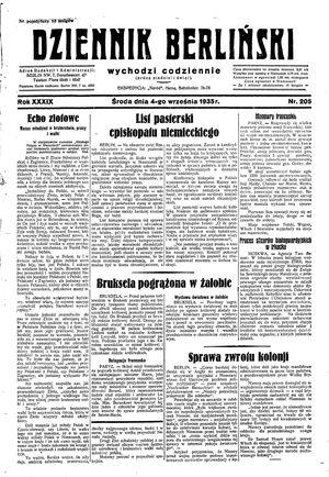 Dziennik Berliński vom 04.09.1935