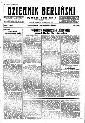 Dziennik Berliński vom 07.09.1935
