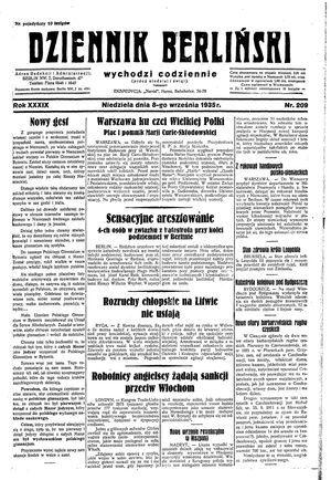 Dziennik Berliński vom 08.09.1935