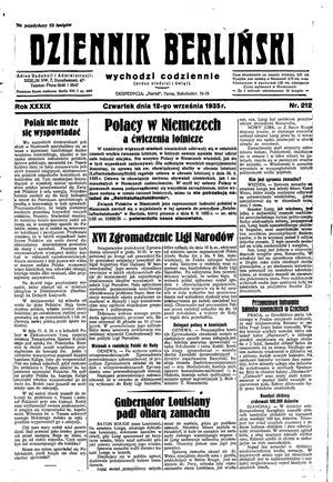 Dziennik Berliński on Sep 12, 1935