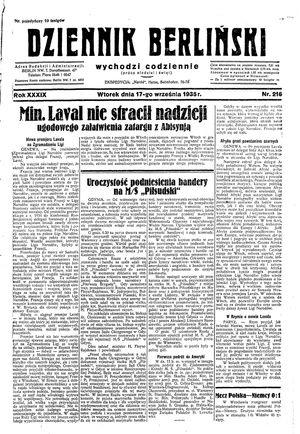 Dziennik Berliński vom 17.09.1935
