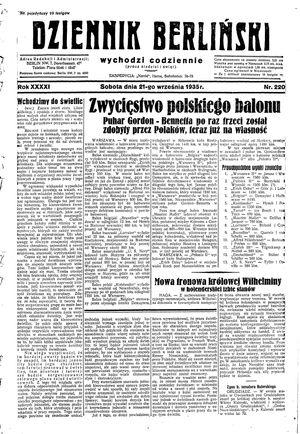 Dziennik Berliński vom 21.09.1935