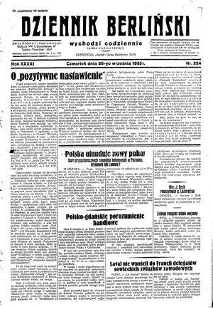 Dziennik Berliński vom 26.09.1935
