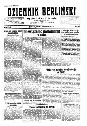 Dziennik Berliński vom 03.04.1937