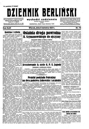 Dziennik Berliński vom 06.04.1937