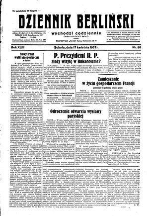 Dziennik Berliński vom 17.04.1937