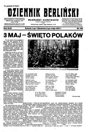 Dziennik Berliński vom 01.05.1937