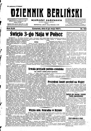 Dziennik Berliński vom 06.05.1937