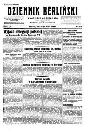 Dziennik Berliński vom 11.05.1937
