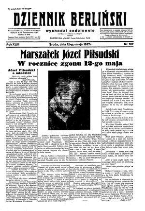 Dziennik Berliński on May 12, 1937