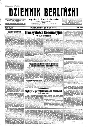 Dziennik Berliński on May 14, 1937