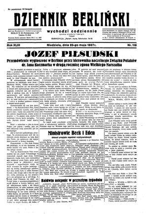 Dziennik Berliński vom 23.05.1937
