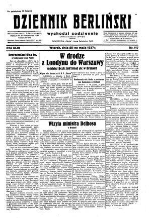 Dziennik Berliński vom 25.05.1937