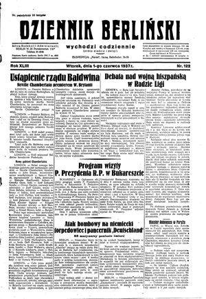 Dziennik Berliński on Jun 1, 1937