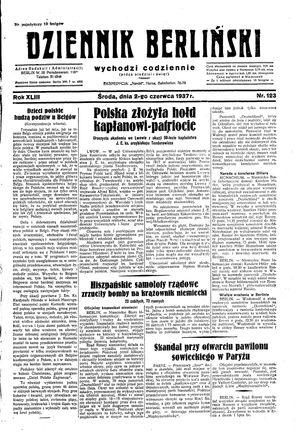 Dziennik Berliński vom 02.06.1937