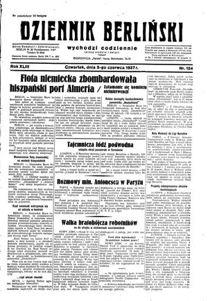 Dziennik Berliński vom 03.06.1937