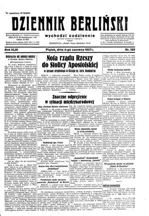 Dziennik Berliński vom 04.06.1937