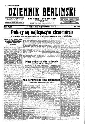 Dziennik Berliński vom 05.06.1937