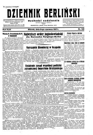 Dziennik Berliński vom 08.06.1937