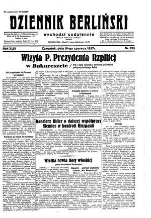 Dziennik Berliński on Jun 10, 1937