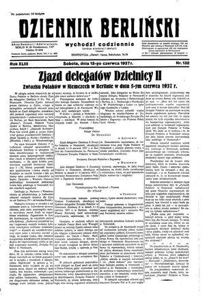 Dziennik Berliński vom 12.06.1937