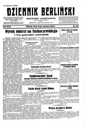 Dziennik Berliński vom 15.06.1937