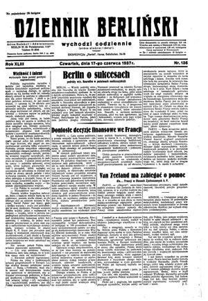 Dziennik Berliński vom 17.06.1937