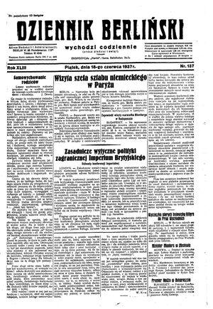Dziennik Berliński vom 18.06.1937