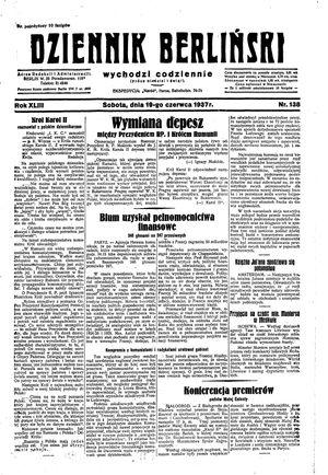 Dziennik Berliński vom 19.06.1937