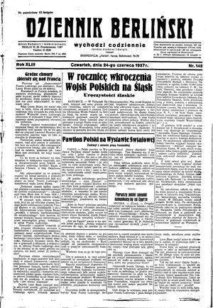 Dziennik Berliński vom 24.06.1937