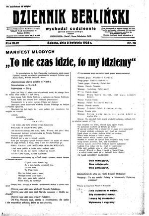 Dziennik Berliński on Apr 2, 1938