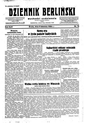 Dziennik Berliński vom 06.04.1938