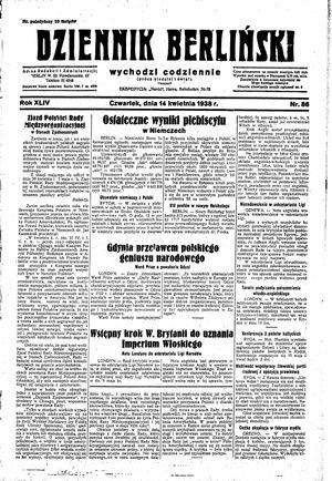 Dziennik Berliński on Apr 14, 1938