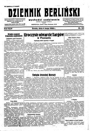 Dziennik Berliński vom 04.05.1938