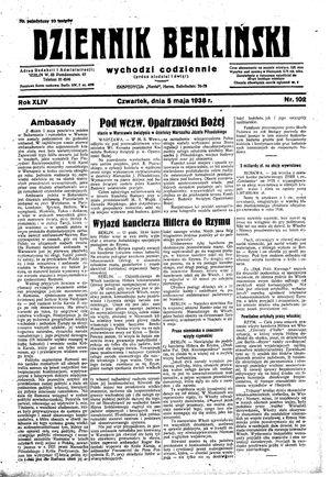 Dziennik Berliński vom 05.05.1938