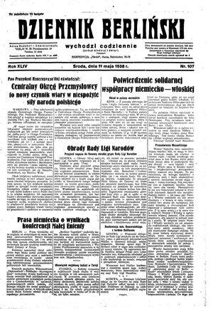 Dziennik Berliński vom 11.05.1938