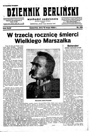 Dziennik Berliński vom 12.05.1938