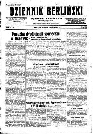 Dziennik Berliński vom 17.05.1938