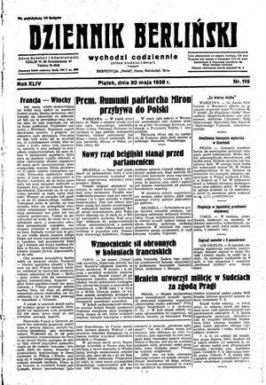 Dziennik Berliński vom 20.05.1938