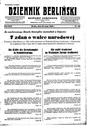 Dziennik Berliński vom 25.05.1938