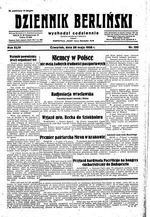 Dziennik Berliński vom 26.05.1938
