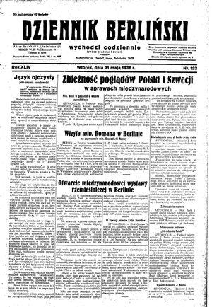 Dziennik Berliński vom 31.05.1938