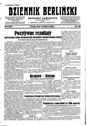 Dziennik Berliński vom 01.06.1938