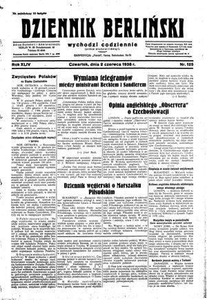 Dziennik Berliński vom 02.06.1938