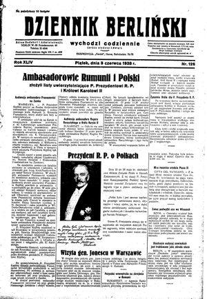 Dziennik Berliński vom 03.06.1938