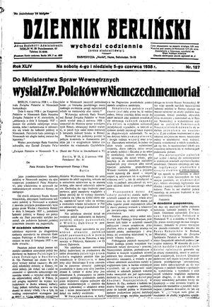 Dziennik Berliński vom 04.06.1938