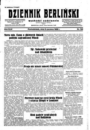Dziennik Berliński vom 06.06.1938